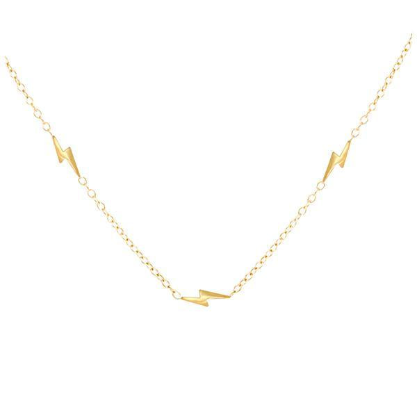 Three Lightning Bolt Necklace