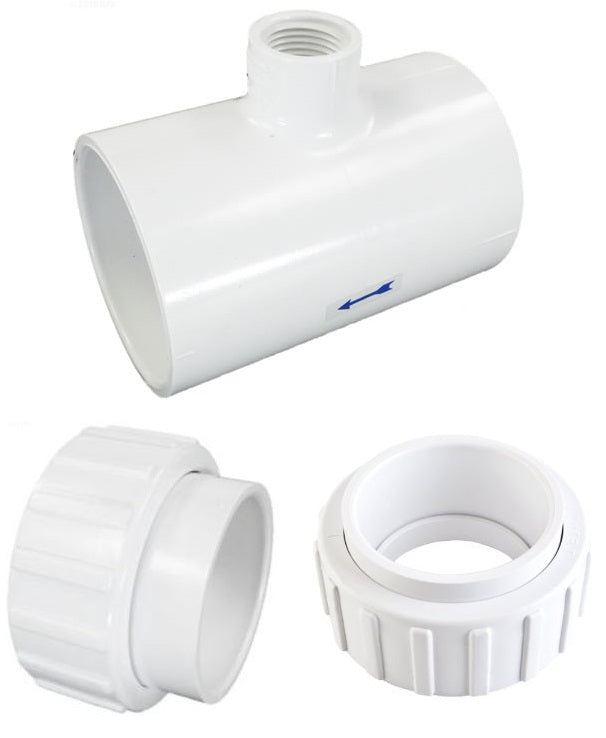 "2"" Pipe Tee & 2 Unions Kit for Hayward® Salt System - Generic"
