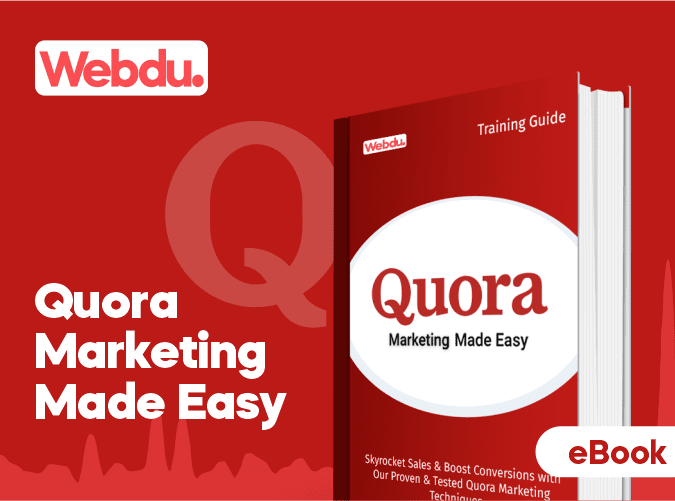 Quora Marketing Webdu E-Book