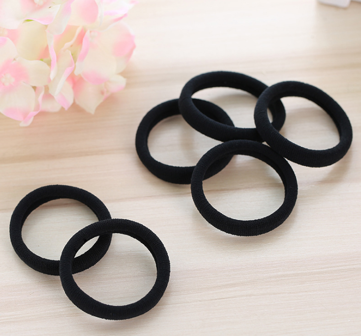 Black Elastic Hair Bands: 30 pieces