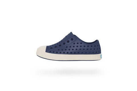 NATIVE JEFFERSON JUNIOR in REGATTA BLUE/BONE WHITE