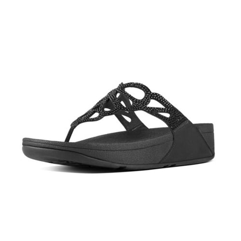 FitFlop™ BUMBLE CRYSTAL TOE POST  ™ in Black