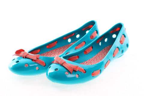 FAUX PAS PARIS Holy Flat with Ribbon Turquoise
