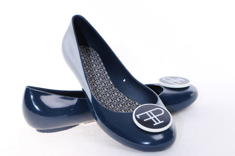 FAUX PAS PARIS Opera Flat Dark navy