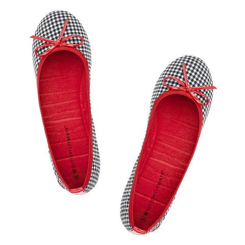 Butterfly Twists Miss Victoria in Houndstooth