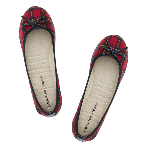 Butterfly Twists Miss Victoria in Red/Tartan