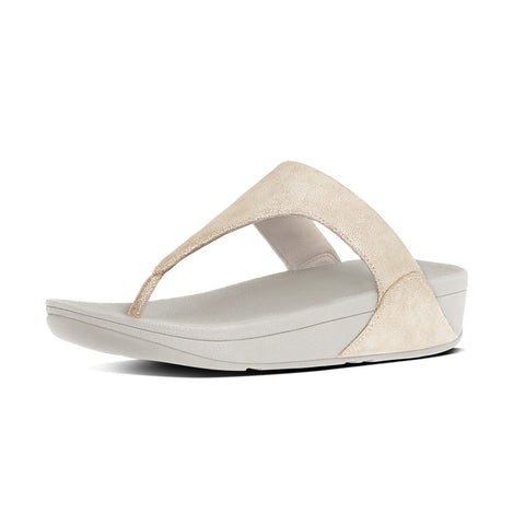 FitFlop™ SHIMMY SUEDE TOE POST  ™ in PALE GOLD