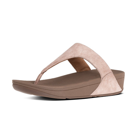 FitFlop™ SHIMMY SUEDE TOE POST  ™ in ROSE GOLD