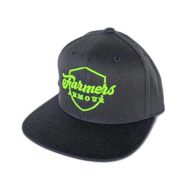 Farmers Armour Embroidered Shield Snap-Back Hat