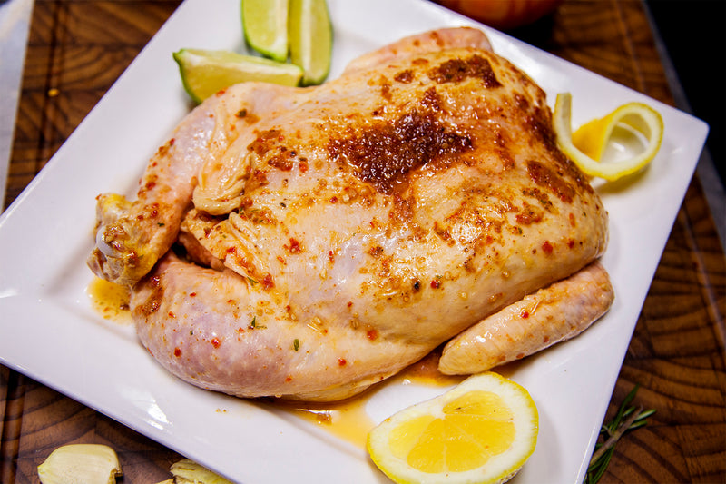 Roasted Garlic Semi-Boneless Flat Chicken
