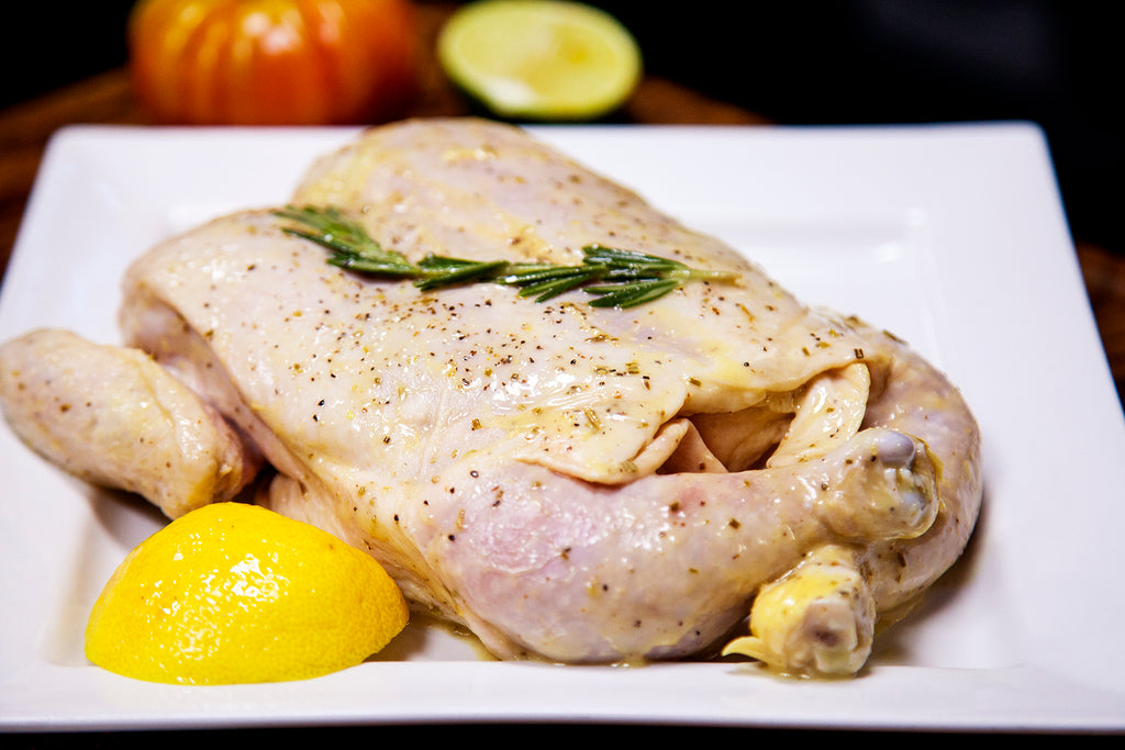 Lemon Rosemary Semi-Boneless Flat Chicken