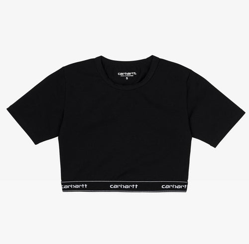 Carhartt WIP Script Crop Top Black - Shop Carhartt WIP for Women Online at OnTheBlock
