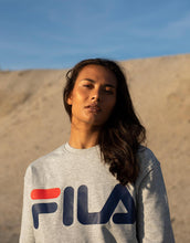 Load image into Gallery viewer, FILA Classic logo sweater light grey