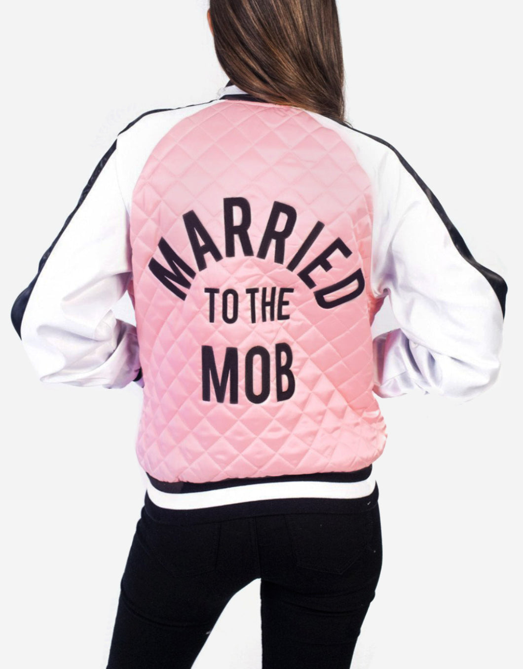 Married To The Mob Satin bomber jacket pink