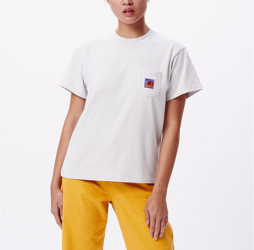 OBEY Apple Pocket Tee Iris - Shop OBEY for Women Online at OnTheBlock