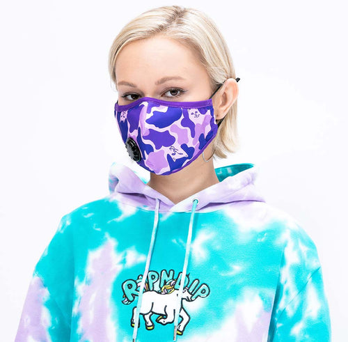 RIPNDIP Face Mask Purple Camo - Shop RIPNDIP Online at OnTheBlock