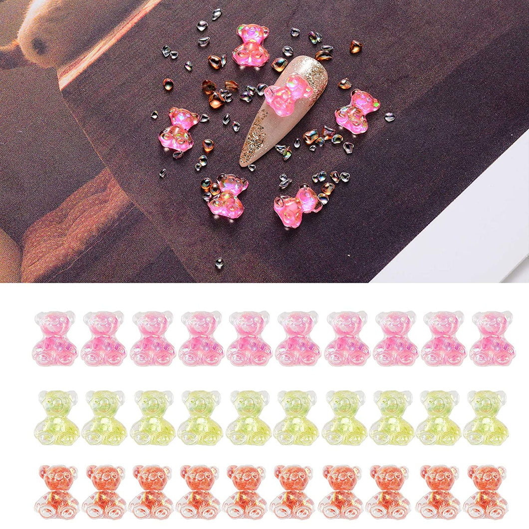 3D Cute Bear Resin Nail Art Decorations (NAIL-NN0001-D045-3)