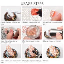 Load image into Gallery viewer, 6PCS Nail Art Stamping Templates Kit (NAIL-NN0001-T049)