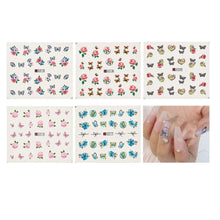 Load image into Gallery viewer, Flower Nail Art Foil Transfer Stickers(NAIL-NN0001-D031-7)
