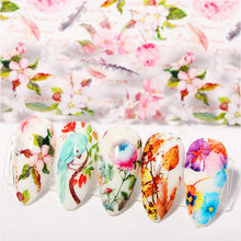 Load image into Gallery viewer, 2 Boxes Flower Nail Art Foil Transfer Stickers(NAIL-NN0001-D050-1)