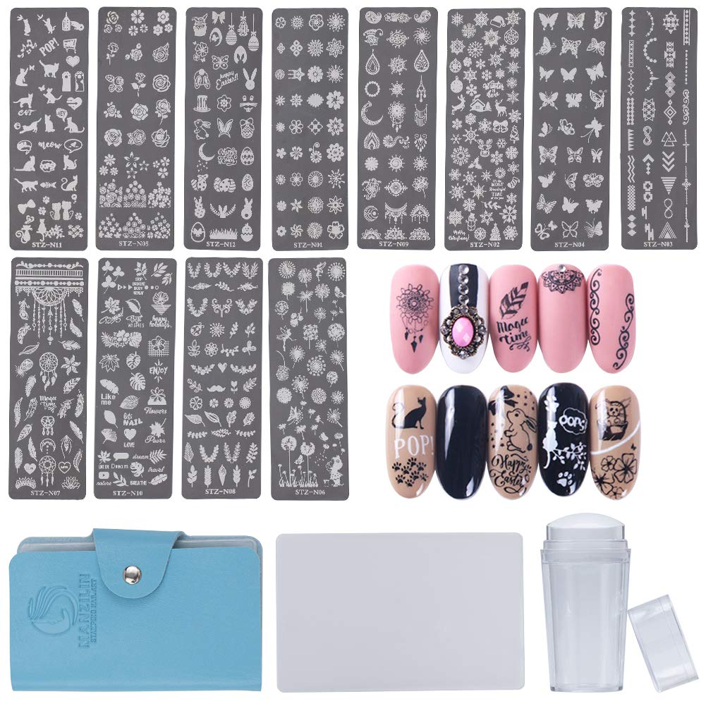 Nail Art Small Pattern Stamping Kit(NAIL-NN0001-K002)