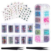 Load image into Gallery viewer, Butterfly Nail Stickers(NAIL-NN0001-K005)