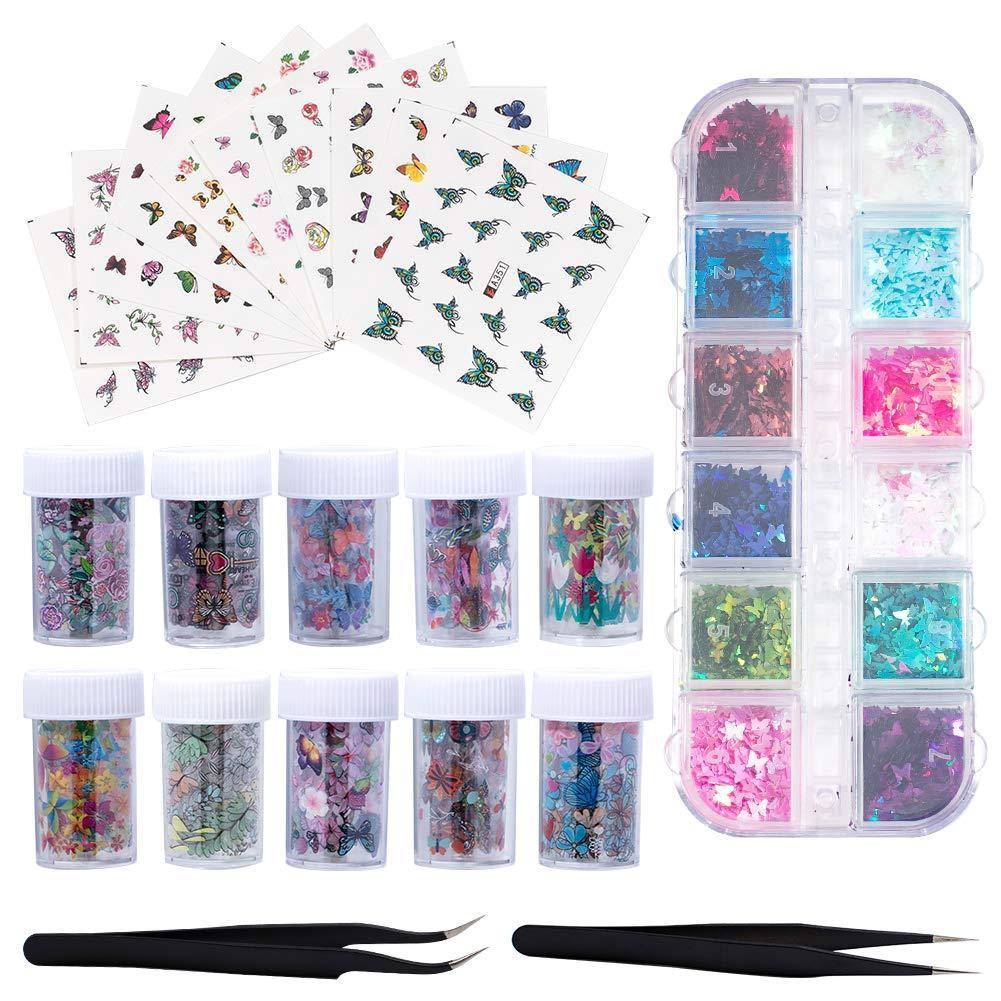 Butterfly Nail Stickers(NAIL-NN0001-K005)