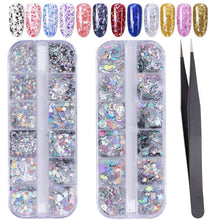 Load image into Gallery viewer, 3D Holographic Butterfly Nail Glitter(NAIL-NN0001-D006)