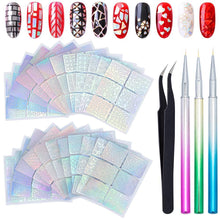 Load image into Gallery viewer, Nail Vinyls Stencils Nails Stickers Set(NAIL-NN0001-K015)