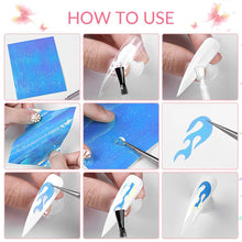 Load image into Gallery viewer, Nail Foil Flower Transfer Sticker(NAIL-NN0001-D029-3)