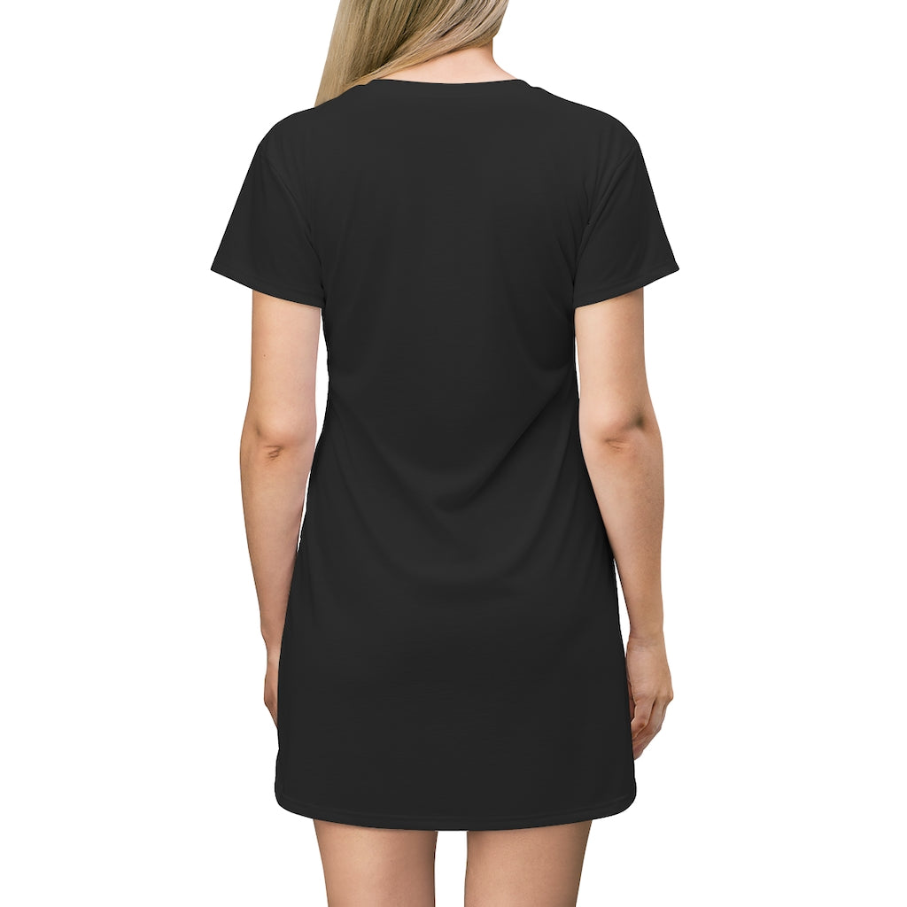 "T-Shirt Dress ""Fern"" Design"