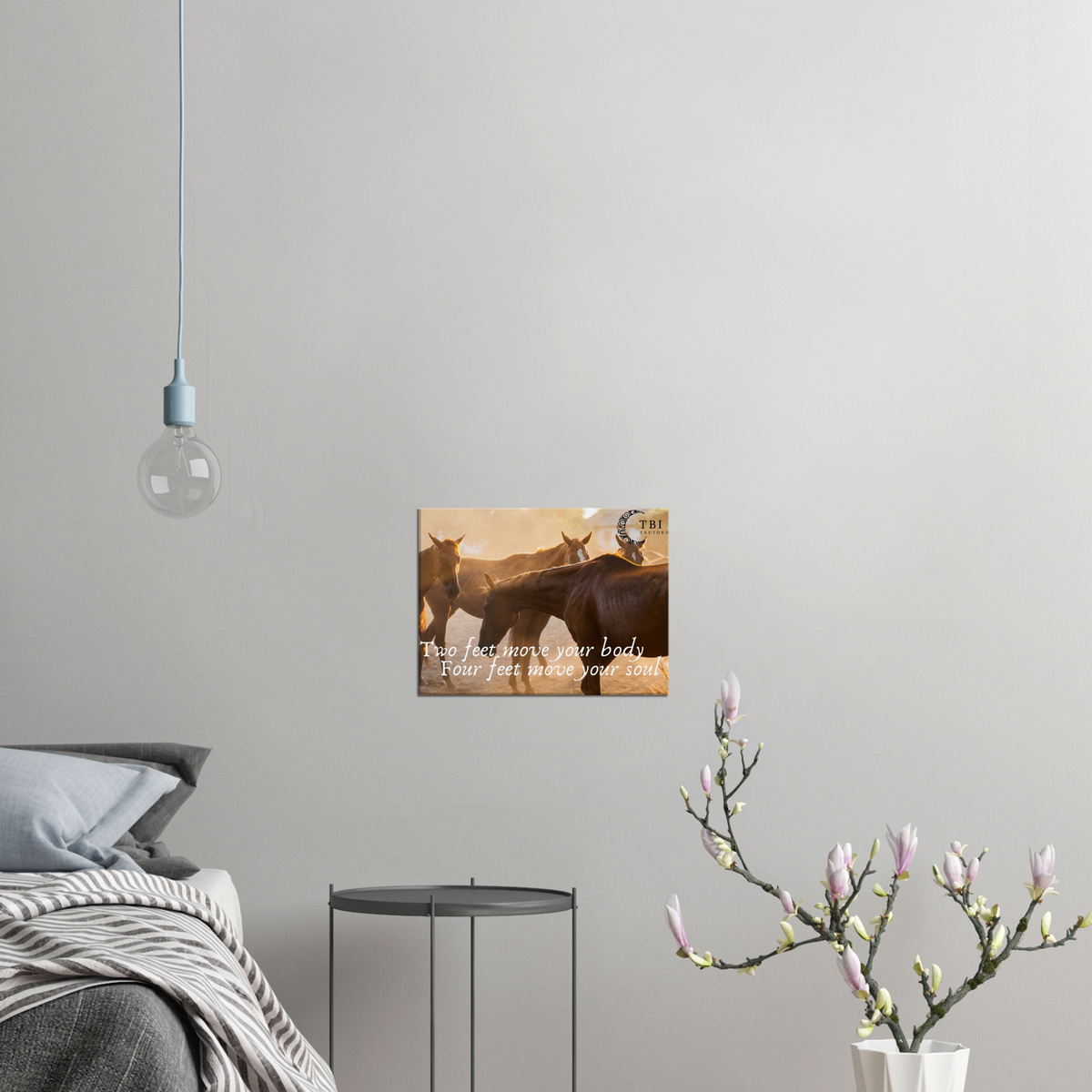 "Canvas ""Love Horses"" Wall Art 40w x 30h cm"