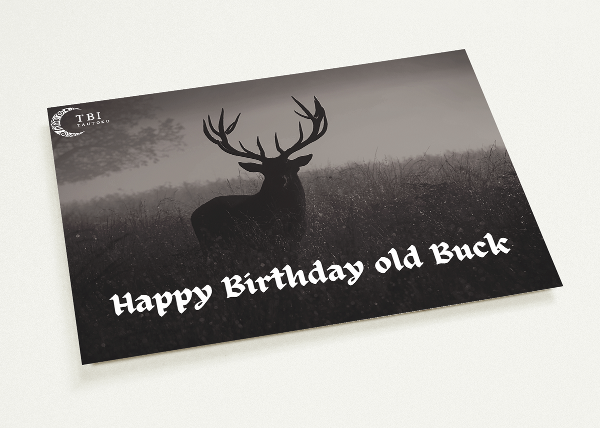 """Happy Birthday old Buck"" Matte Paper Cards 10pk"