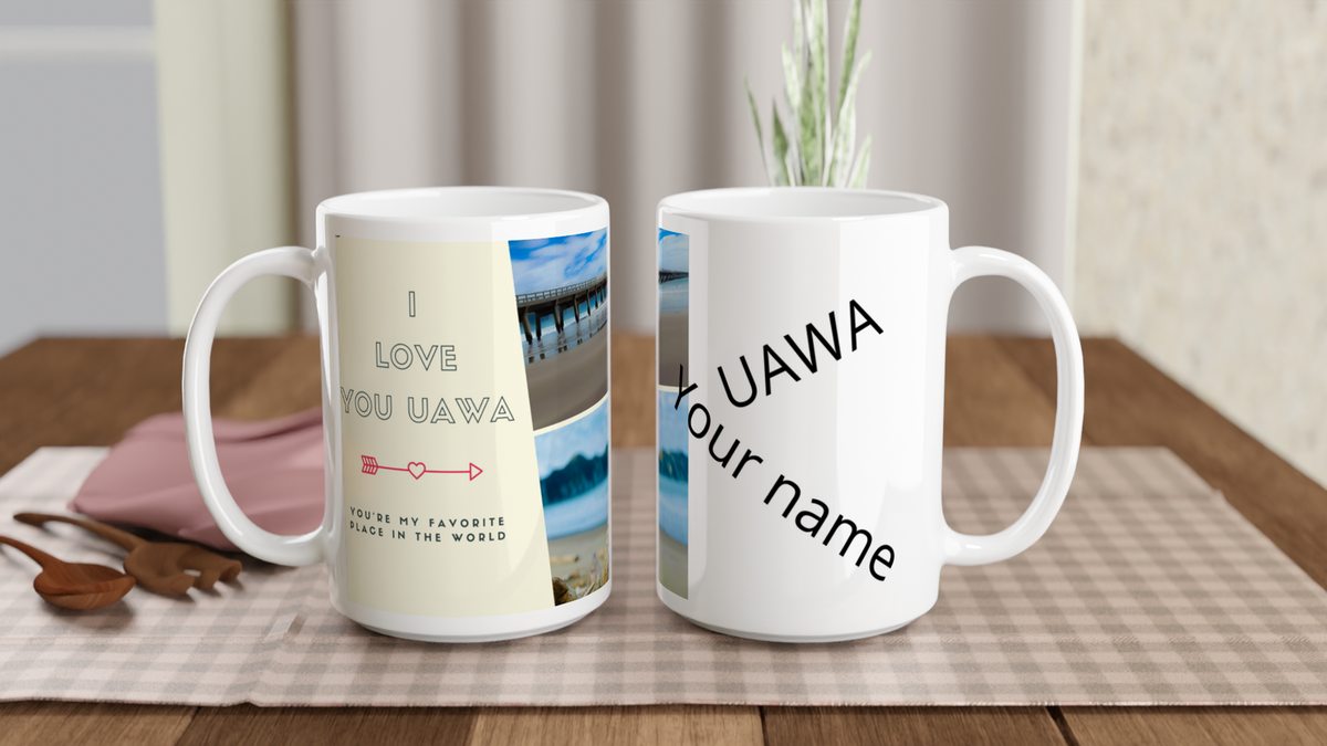 """Personalise""  White 15oz Ceramic Mug"