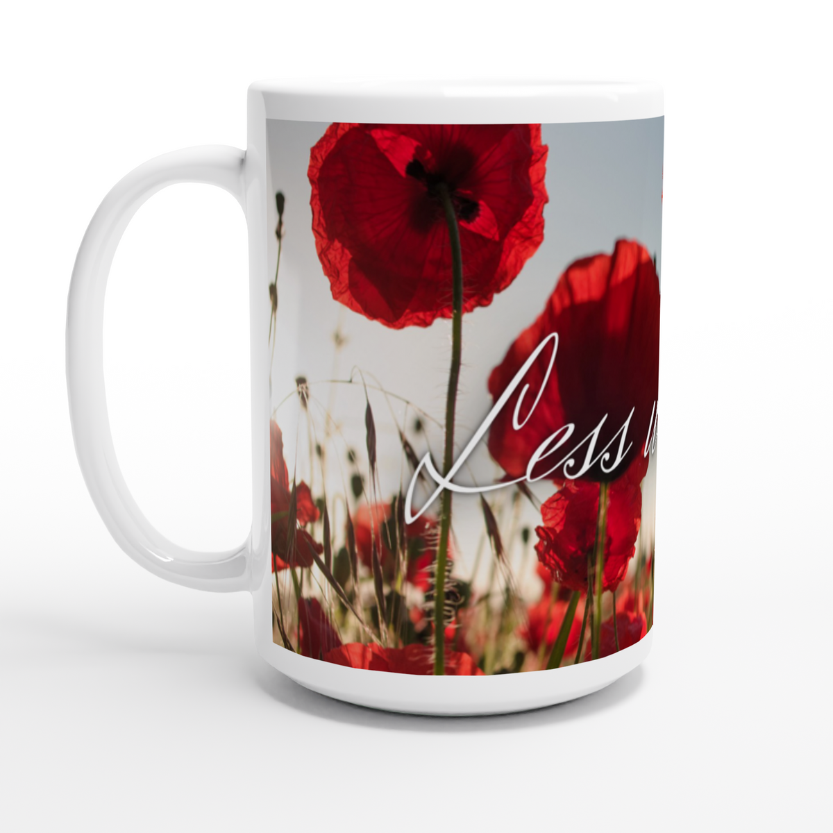 """ANZAC"" White 15oz Ceramic Mug"