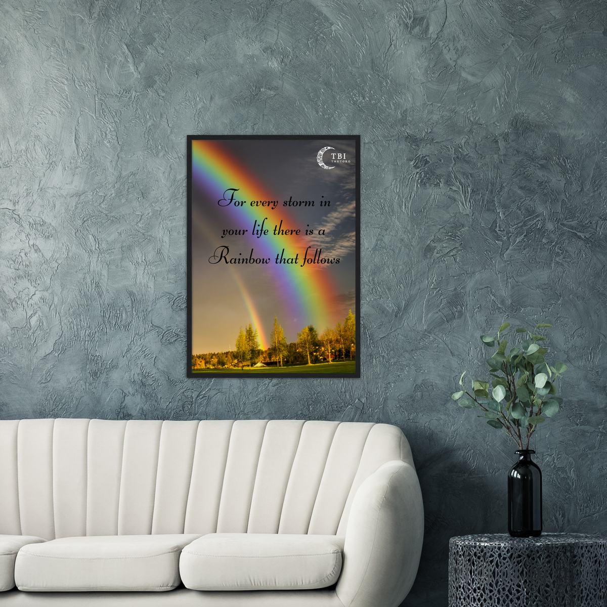 """Positivity Quote - Rainbow""  Poster 50x70cm"