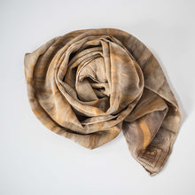 Load image into Gallery viewer, Eco Dyed Silk Scarf - Bark