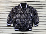BLM MUD CLOTH CHILDREN'S BOMBER JACKET