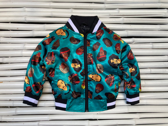 MANY FACES CHILDREN'S BOMBER JACKET