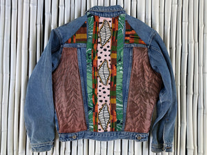 CENTER BONES DENIM JACKET