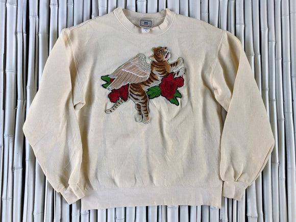OFF WHITE FLYING TIGER CREW NECK SWEAT SHIRT