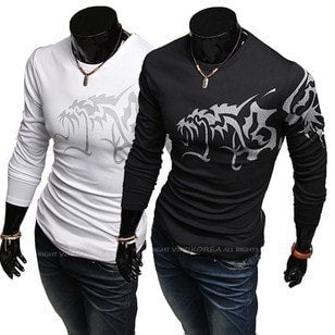 Dragon Tattoo Design Long Sleeve Shirt - T-Shirts - eDealRetail - 1
