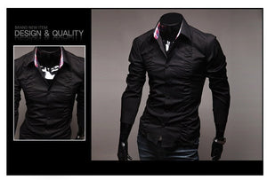 Chest Fold Design Luxury Dress Shirts - Casual Shirts - eDealRetail - 3