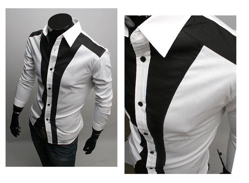 Tuxedo Print Design Stylish Dress Shirts - Casual Shirts - eDealRetail - 2