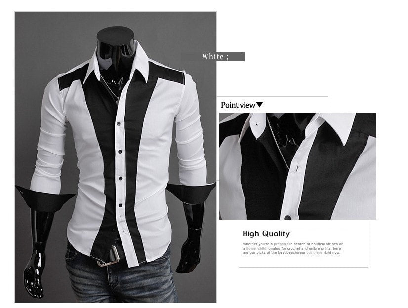 Tuxedo Print Design Stylish Dress Shirts - Casual Shirts - eDealRetail - 6