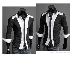 Tuxedo Print Design Stylish Dress Shirts - Casual Shirts - eDealRetail - 7