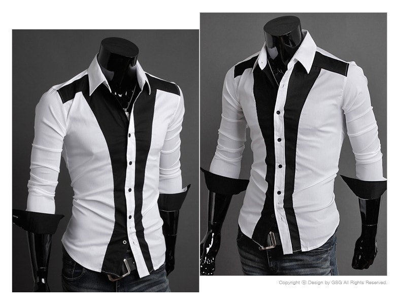 Tuxedo Print Design Stylish Dress Shirts - Casual Shirts - eDealRetail - 8