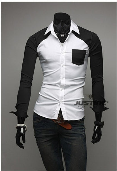 Sleeve Patch Pocket Long Sleeve Shirts - Casual Shirts - eDealRetail - 2