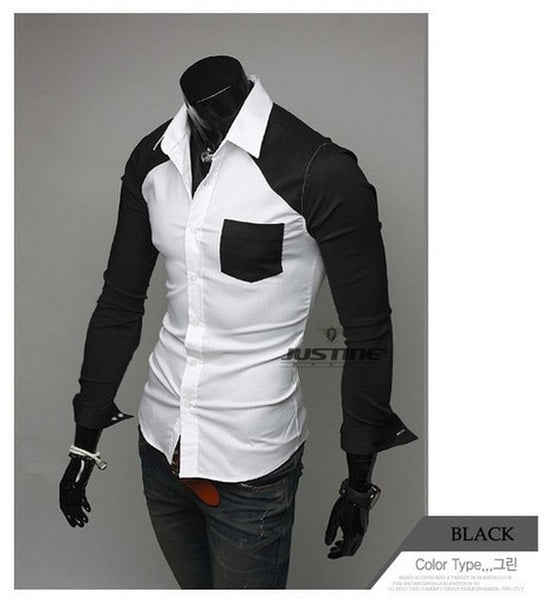 Sleeve Patch Pocket Long Sleeve Shirts - Casual Shirts - eDealRetail - 4