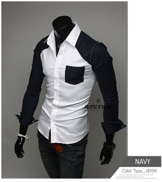 Sleeve Patch Pocket Long Sleeve Shirts - Casual Shirts - eDealRetail - 5